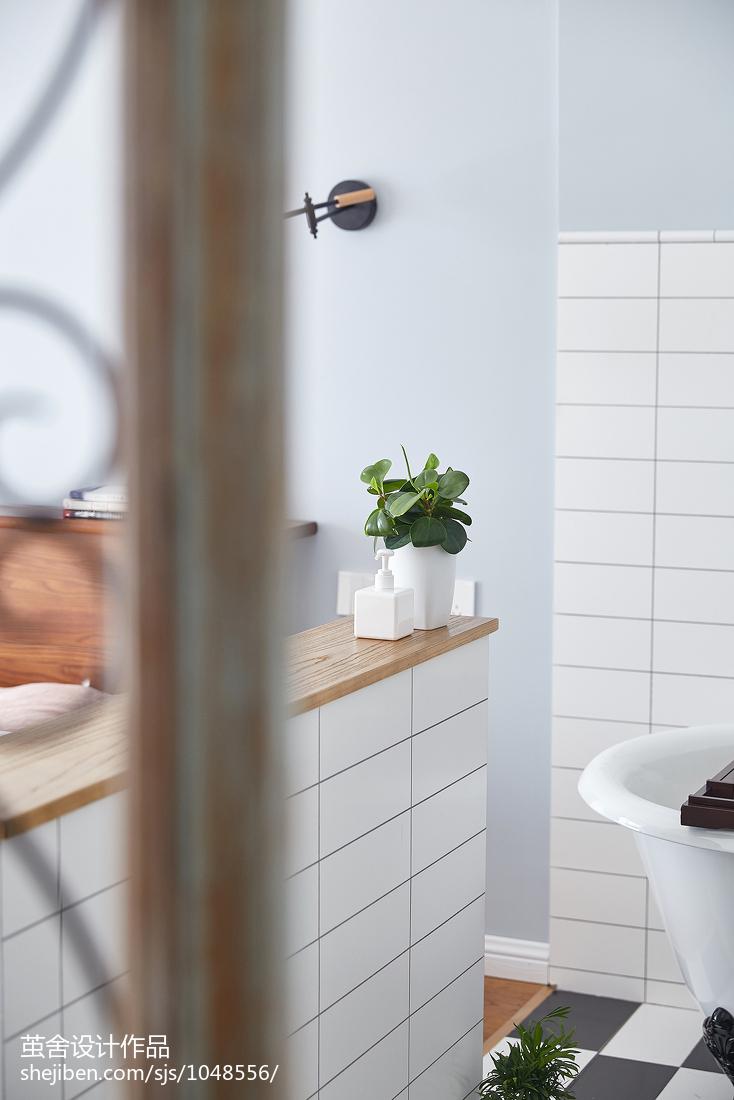 2018三居卫生间北欧装修设计效果图