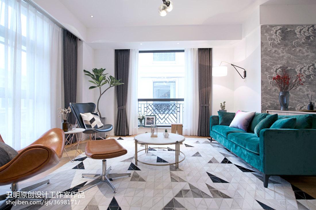 温馨240平北欧复式客厅装修美图