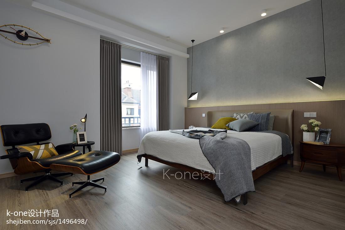 简约复式卧室装修效果图片