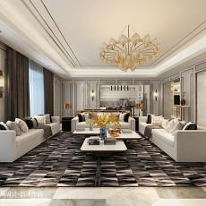 2018精选134平米四居客厅中式欣赏图片大全