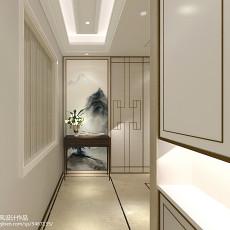 2018精选面积144平别墅玄关中式装修设计效果图片大全