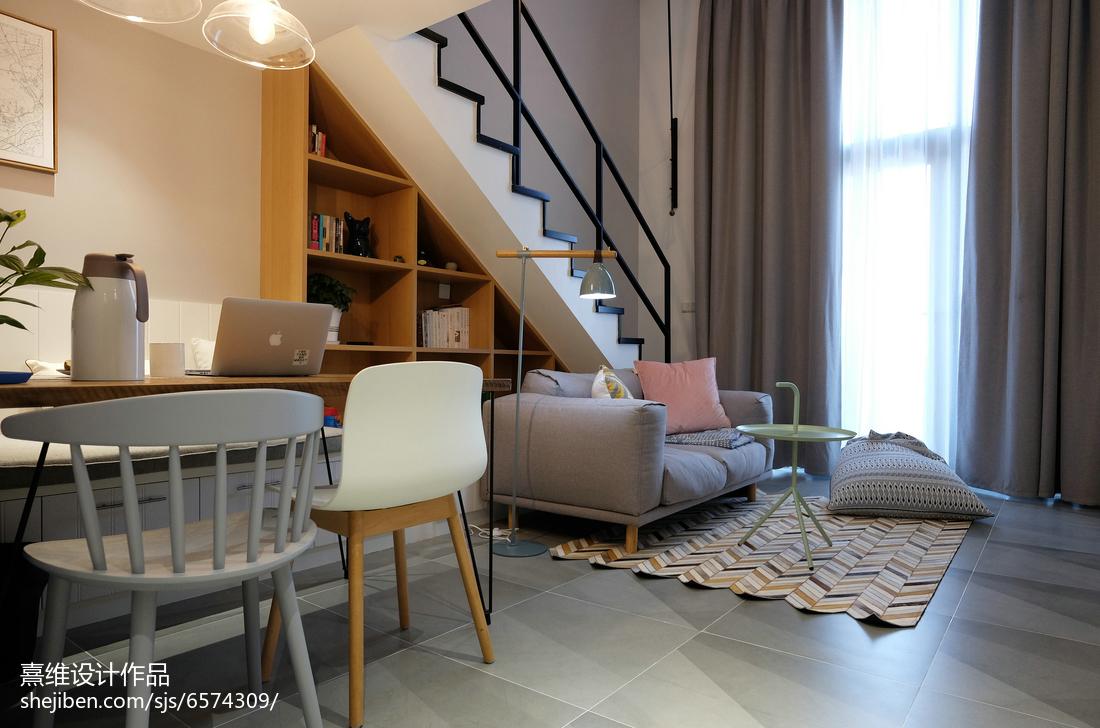 精选面积71平小户型客厅北欧装饰图片欣赏