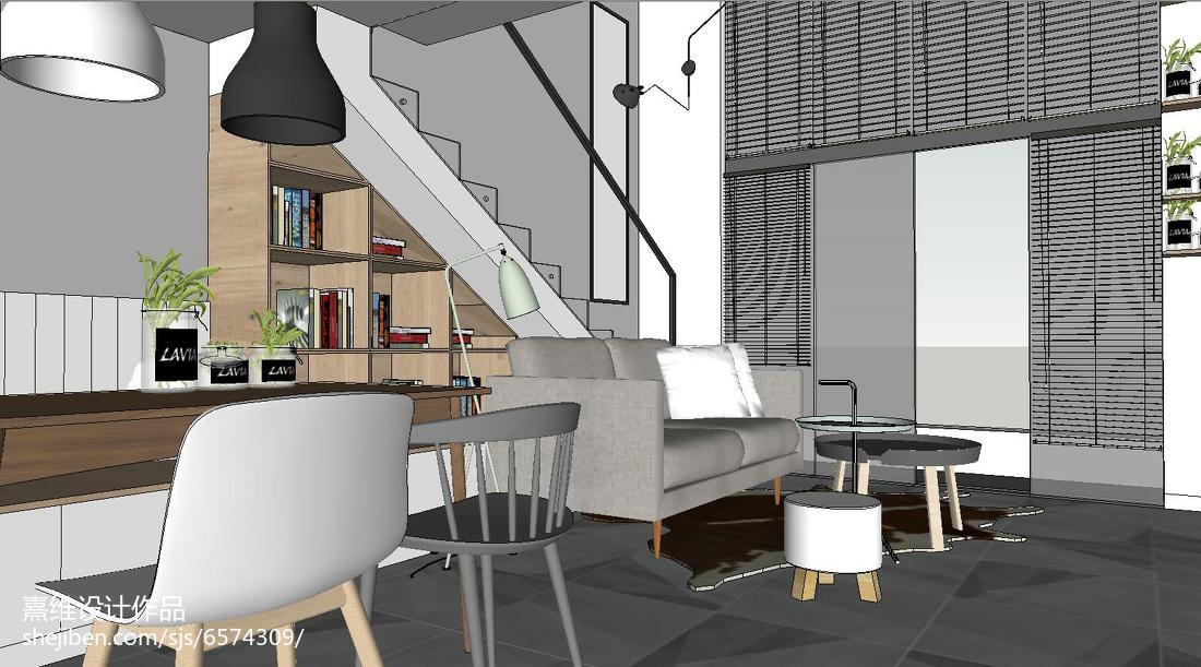 2018精选82平米北欧小户型客厅效果图片