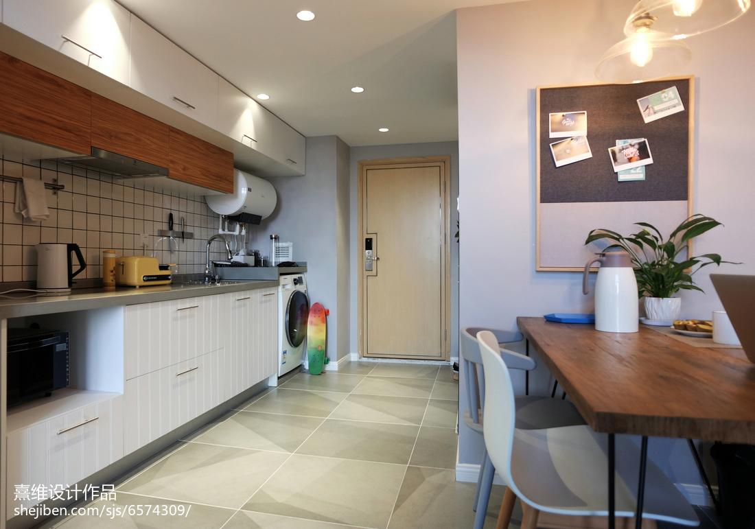 2018北欧小户型厨房装修实景图片