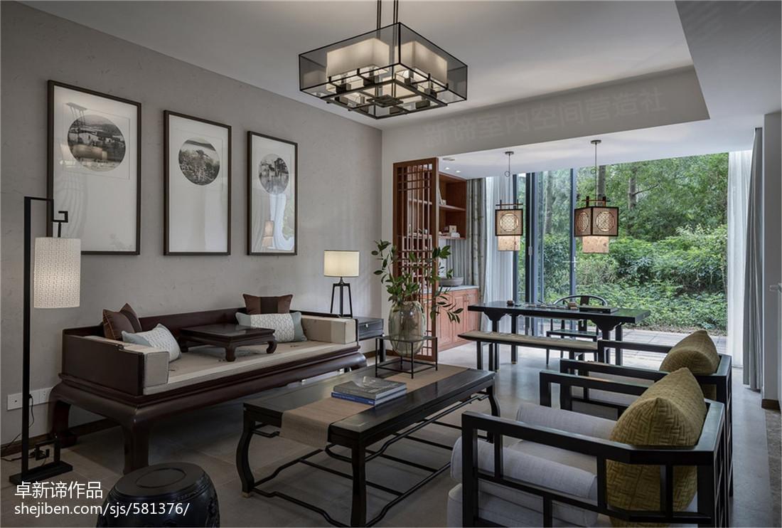 南山宅中式客厅设计图