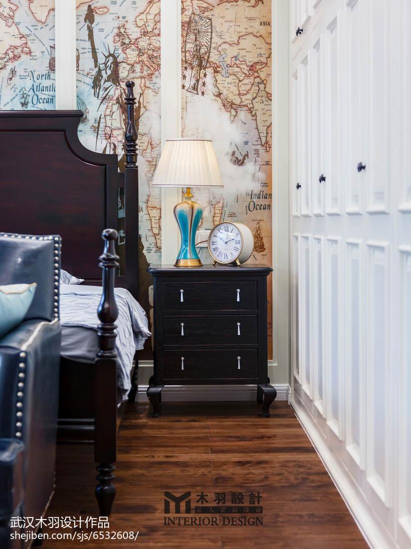精美新古典别墅卧室装修欣赏图片
