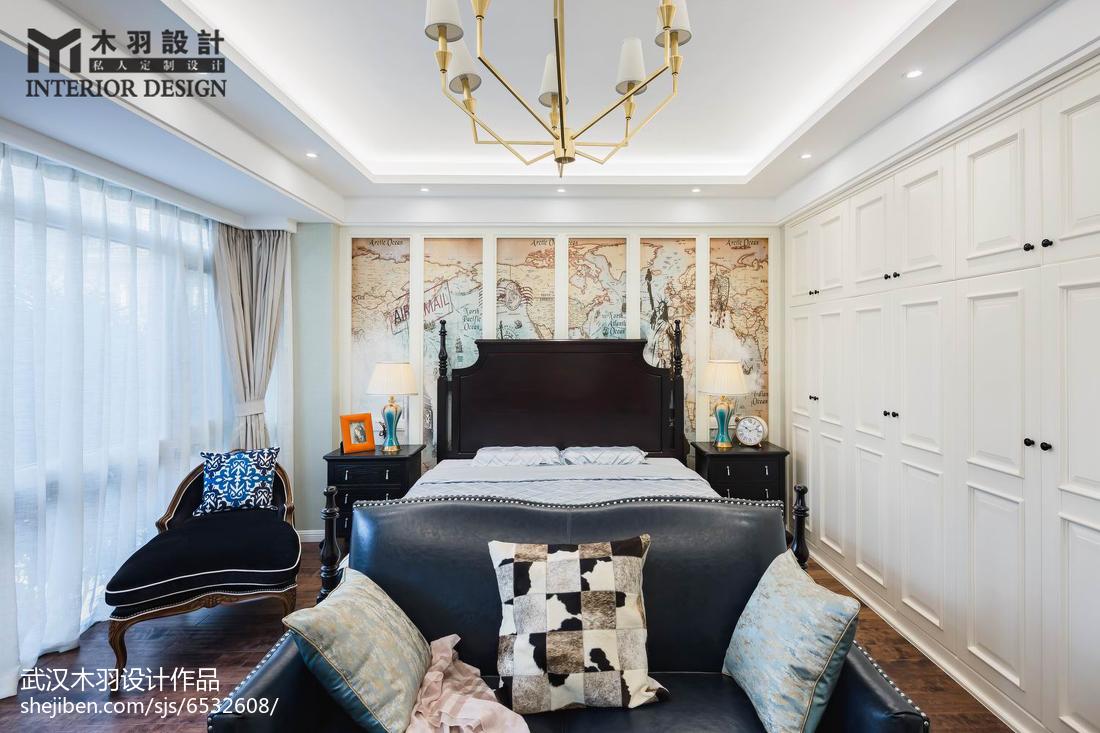111平米新古典别墅卧室装饰图片欣赏