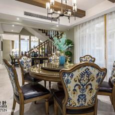 精选125平米新古典别墅餐厅欣赏图