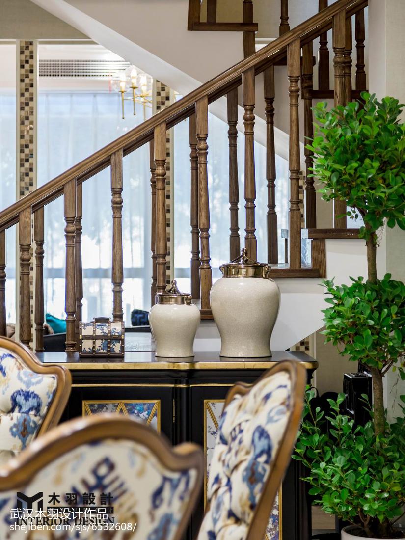 热门143平米新古典别墅餐厅实景图