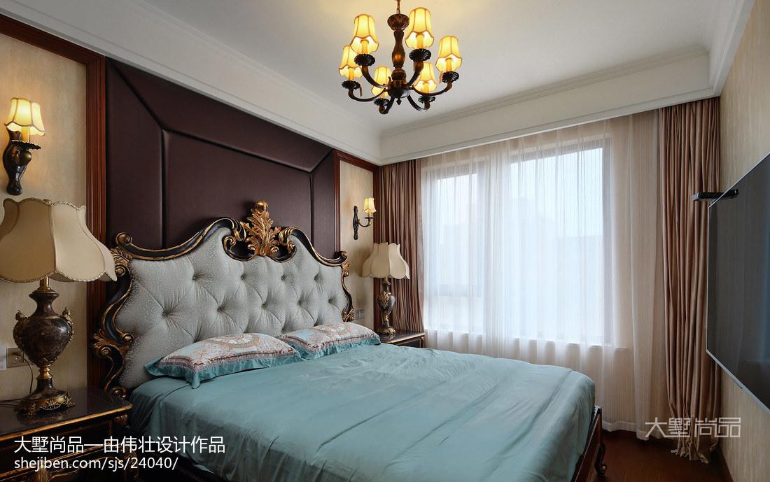 精美97平米三居卧室欧式装修欣赏图