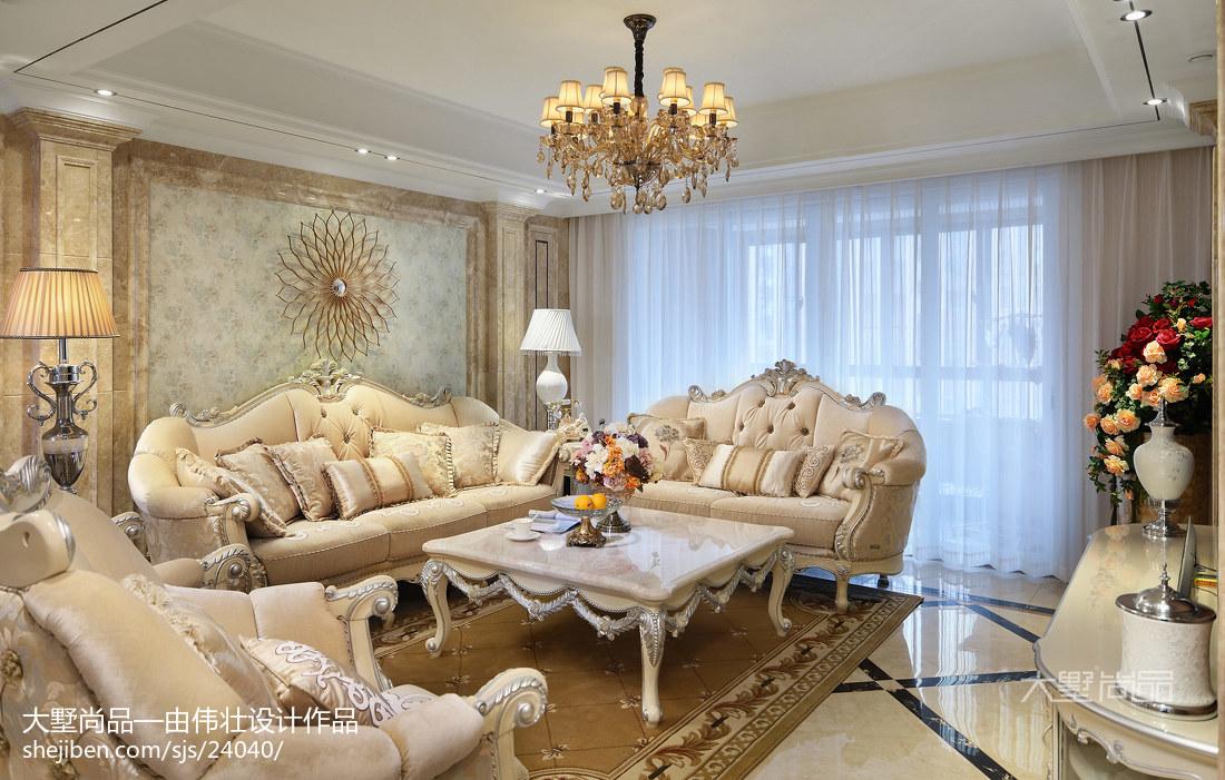 精选大小101平欧式三居客厅装修图