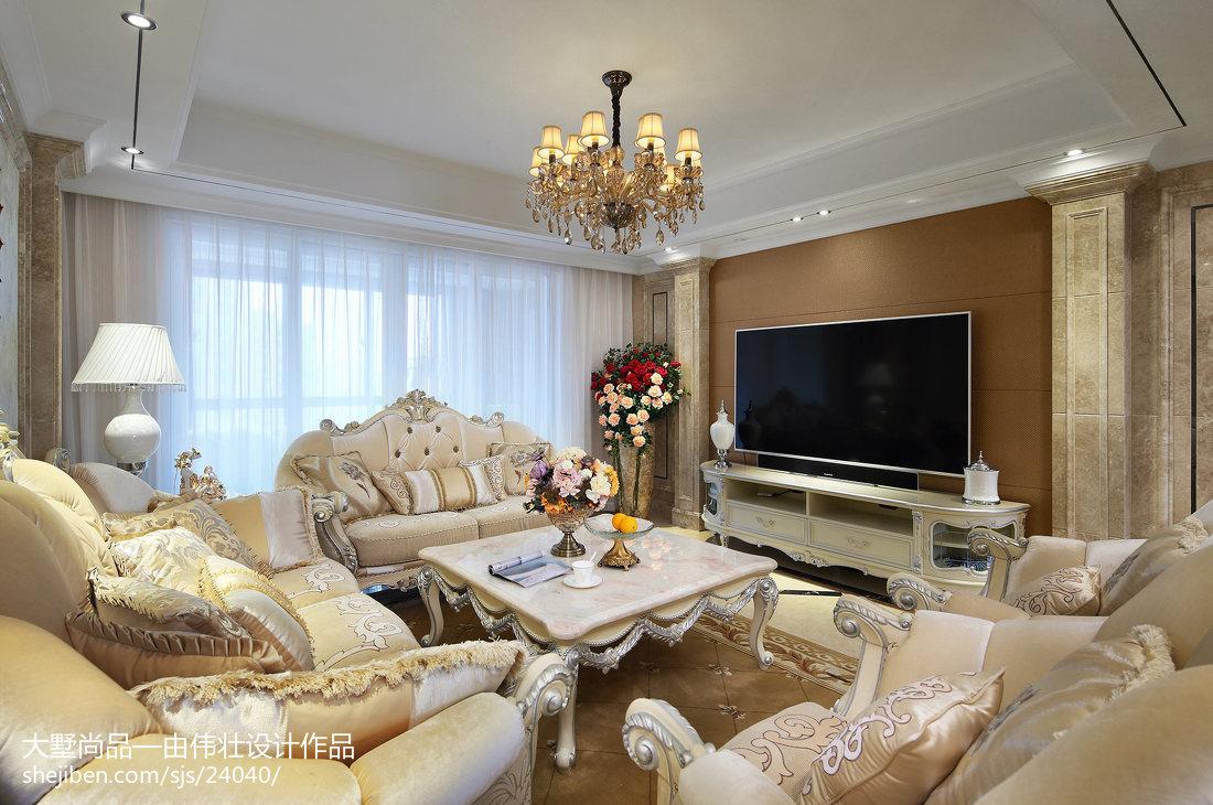精美107平方三居客厅欧式装修效果图片欣赏