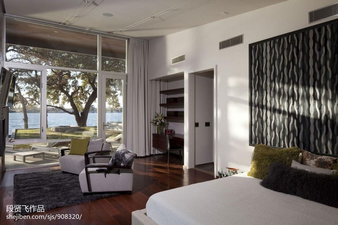 北欧风格双人卧室装修效果图