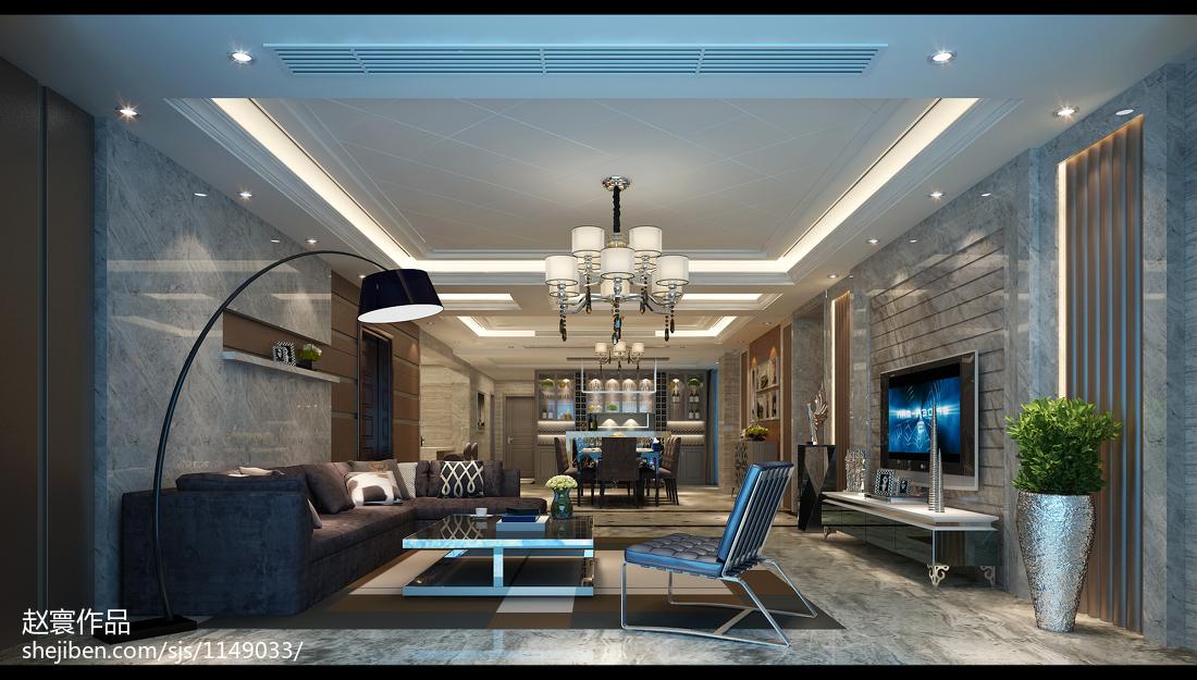 欧式新古典豪华客厅装修效果图大全