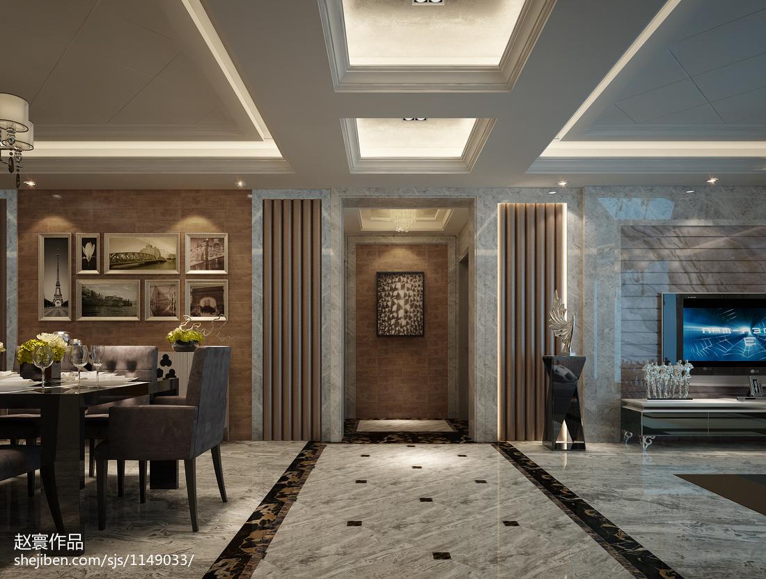 欧式新古典风格餐厅吊顶图片欣赏