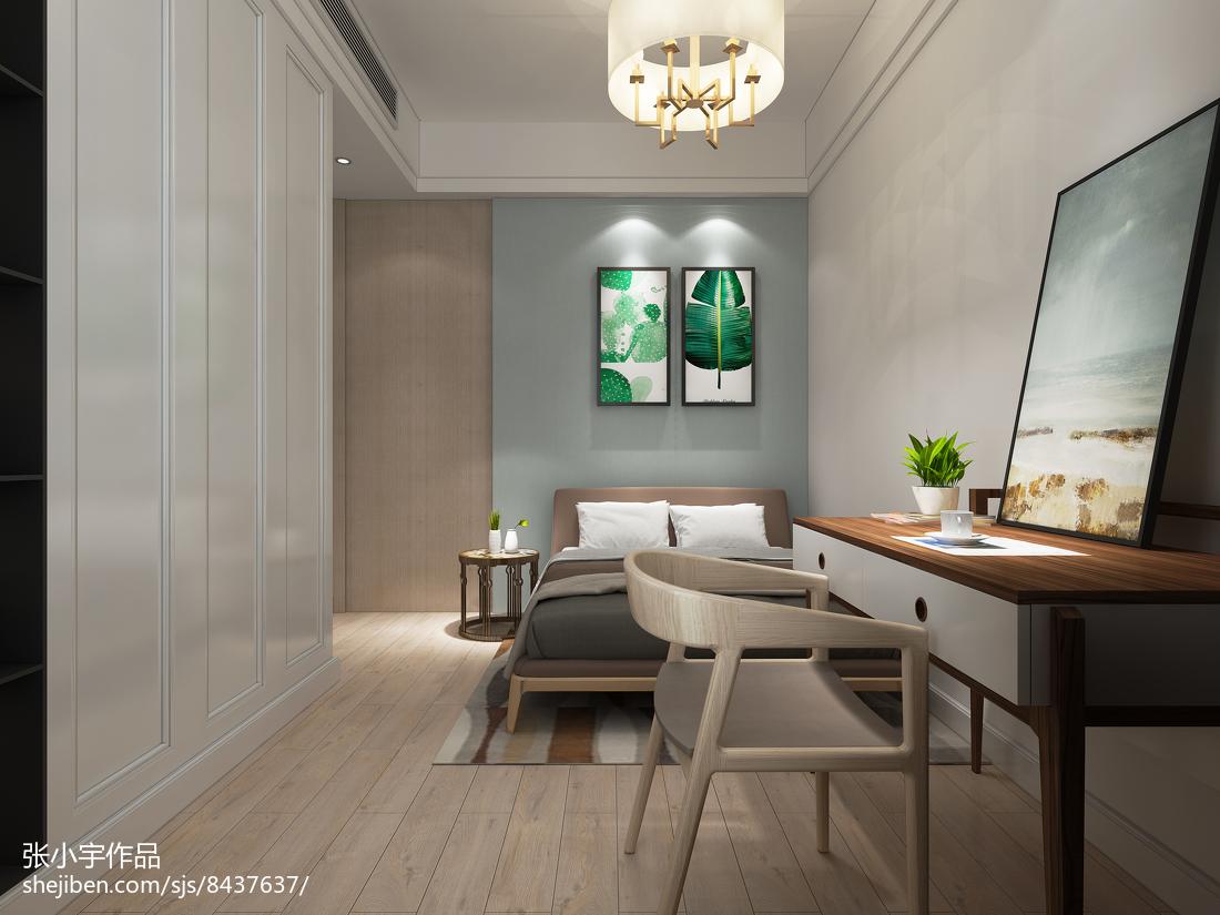 120平米三室两厅素雅的卧室装修效果图大全2014图片