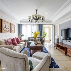 2018精选117平米四居客厅美式设计效果图
