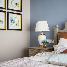 精选面积139平美式四居卧室装修实景图