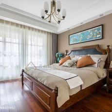 2018精选118平米四居卧室美式实景图片大全