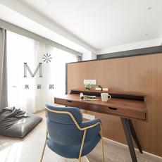 2018精选面积92平现代三居书房装修设计效果图