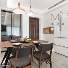 精美94平米三居餐厅现代实景图片欣赏