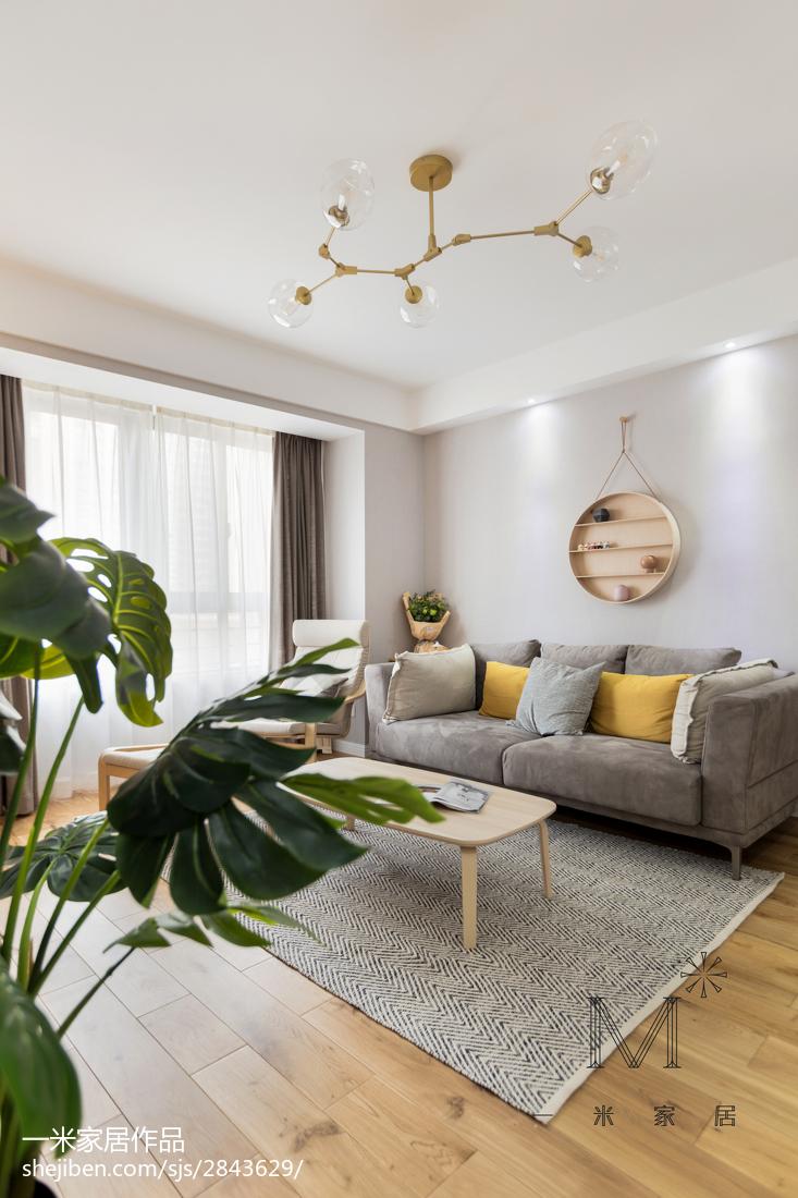 温馨89平北欧三居客厅布置图