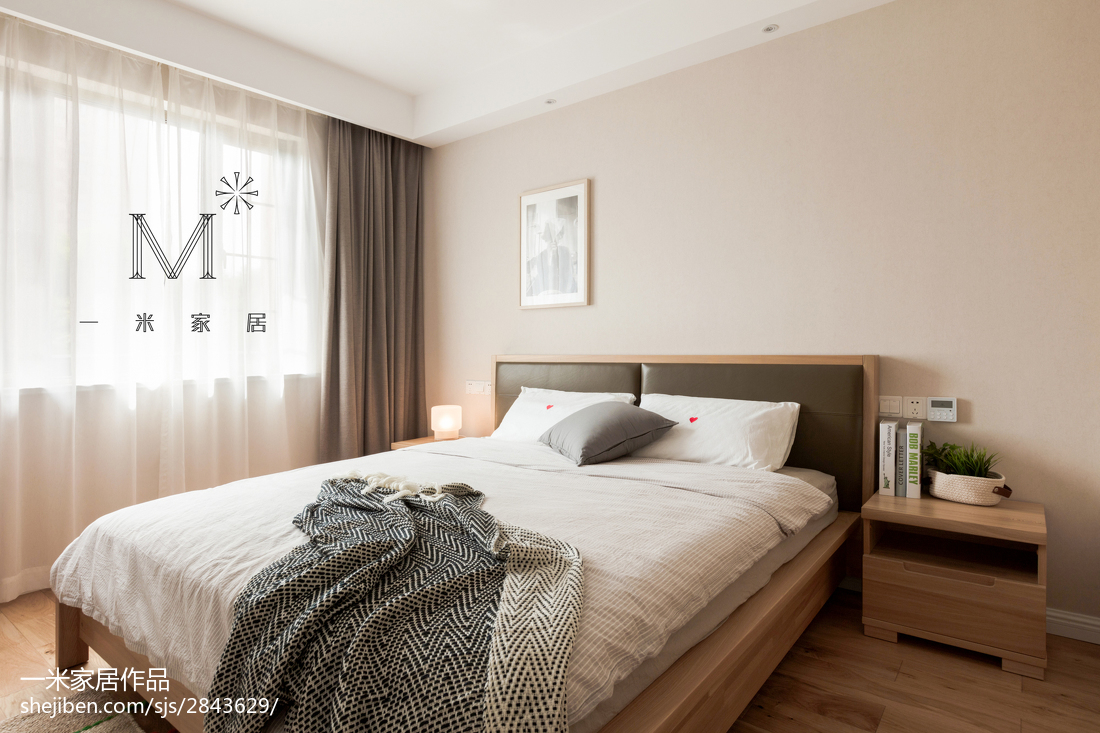 大气105平北欧三居卧室设计效果图