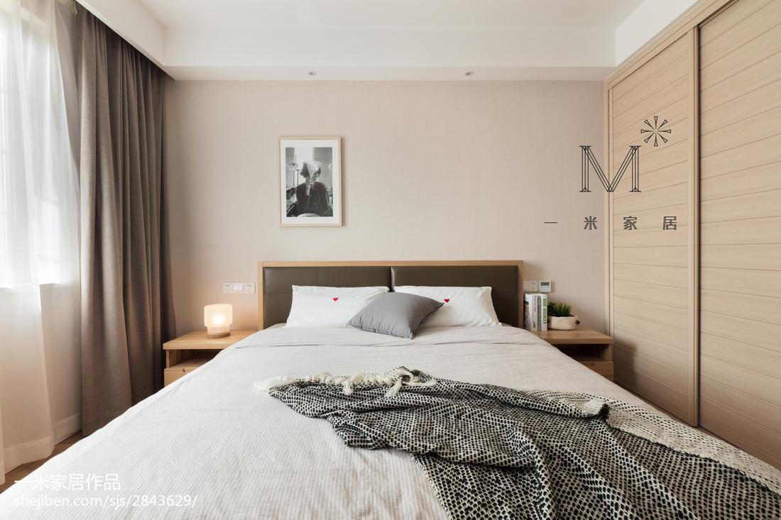 优雅85平北欧三居卧室装饰美图
