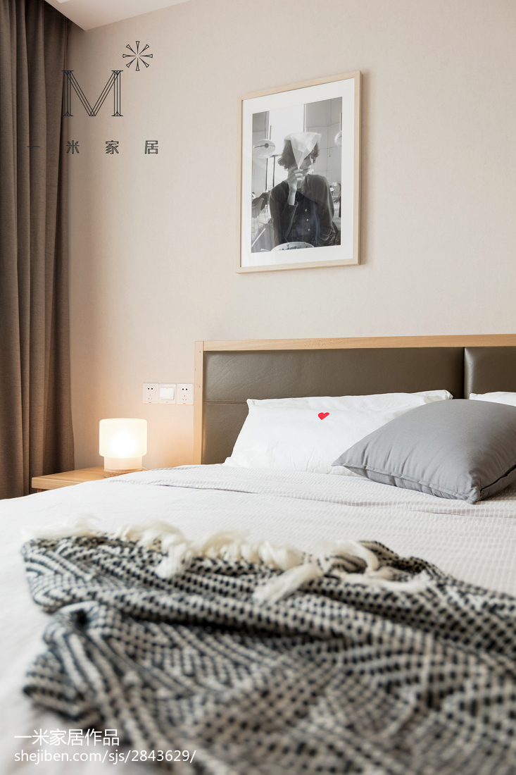 精美121平北欧三居卧室装修图
