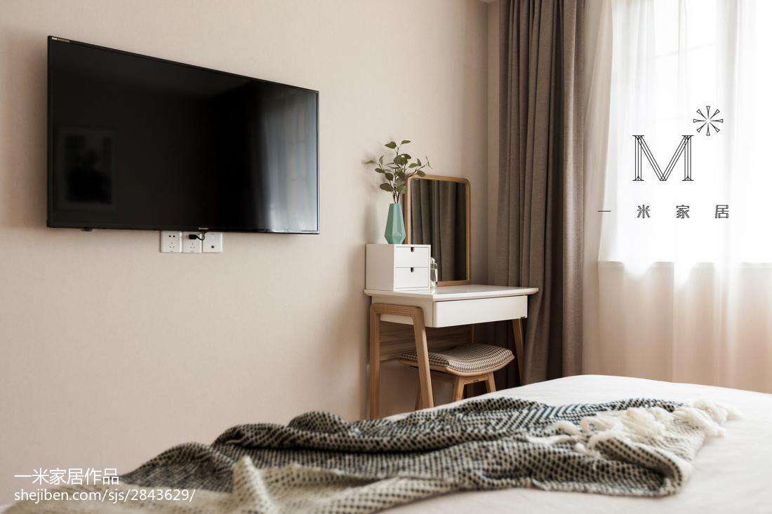 精致119平北欧三居卧室装修图片