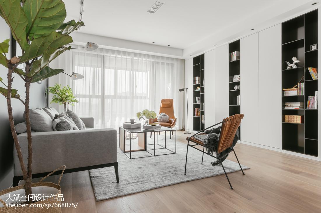 2018面积139平北欧四居客厅装修欣赏图