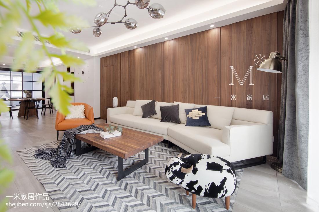 热门126平米四居客厅现代装修设计效果图片