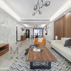 精美四居客厅现代装修实景图片