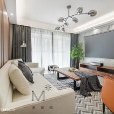 精选110平米四居客厅现代效果图