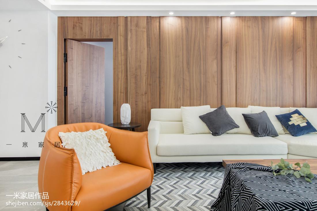 精美面积129平现代四居客厅装修设计效果图片大全