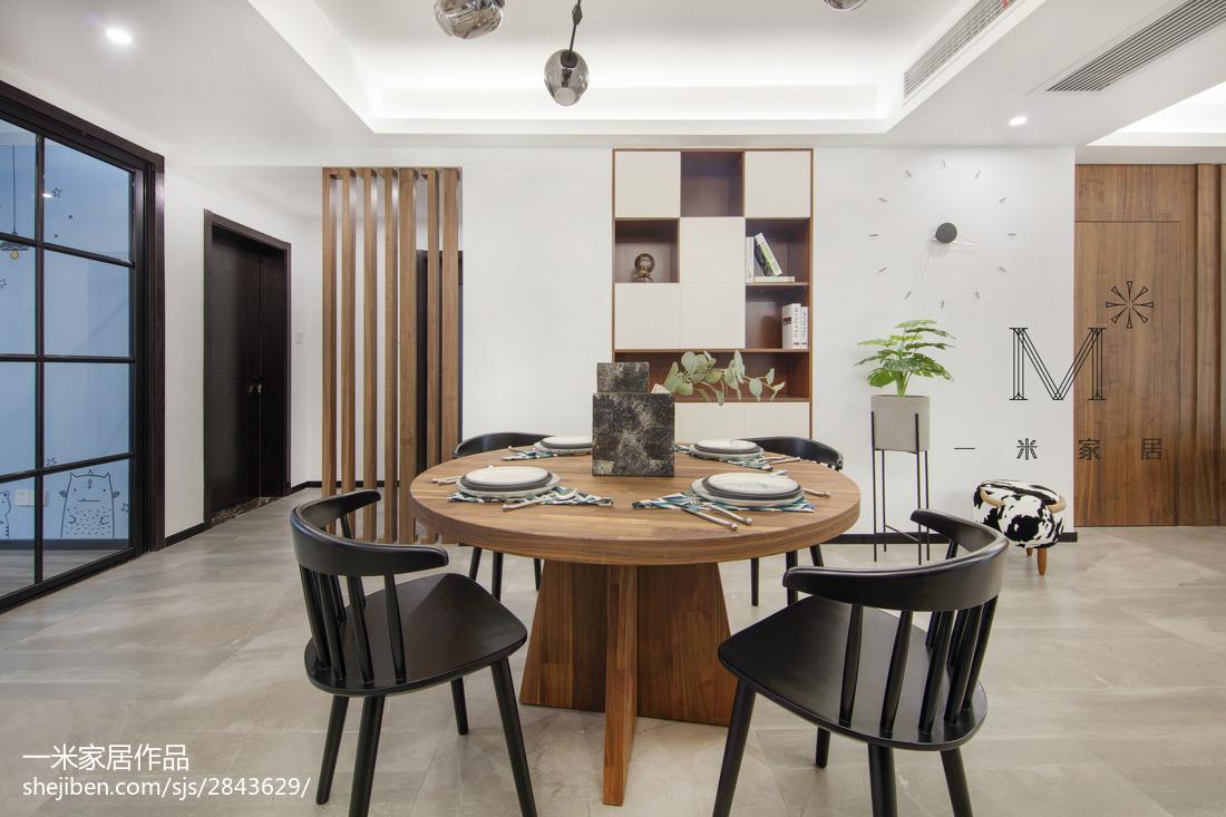 精美面积118平现代四居餐厅装修欣赏图片大全