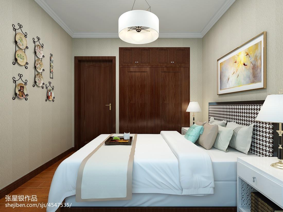 2018面积143平中式四居卧室装饰图片大全