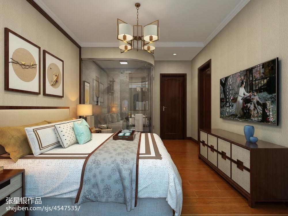精选面积112平中式四居卧室装修设计效果图片大全