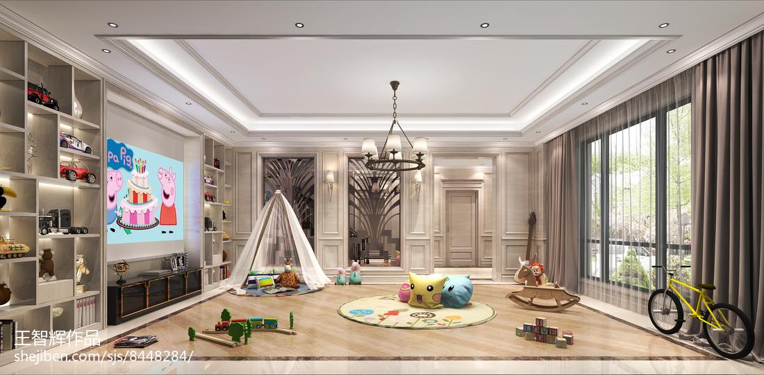美式家居洗手间设计装修室内效果图