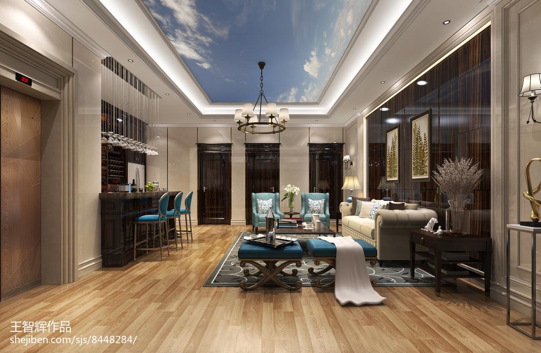 美式清新客厅家居设计装修室内效果图