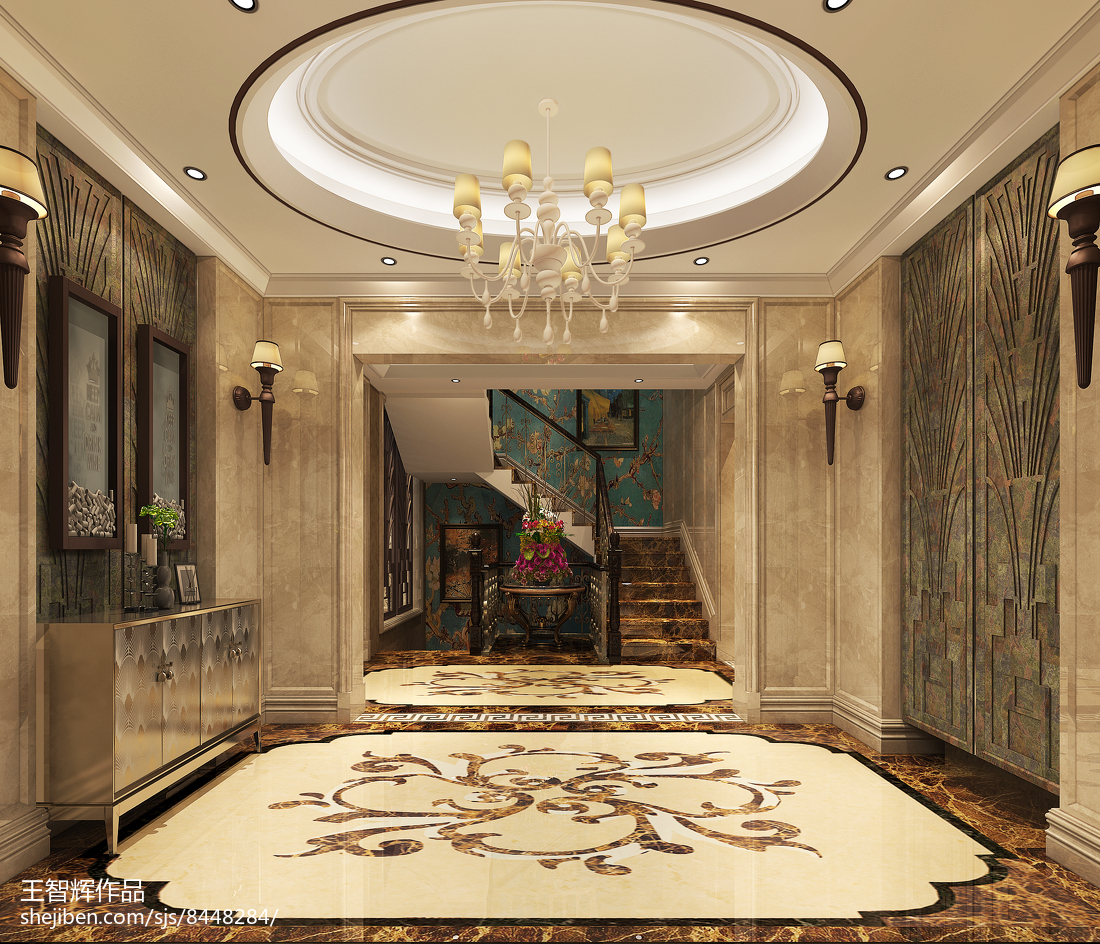 美式清新卧室设计装修室内效果图