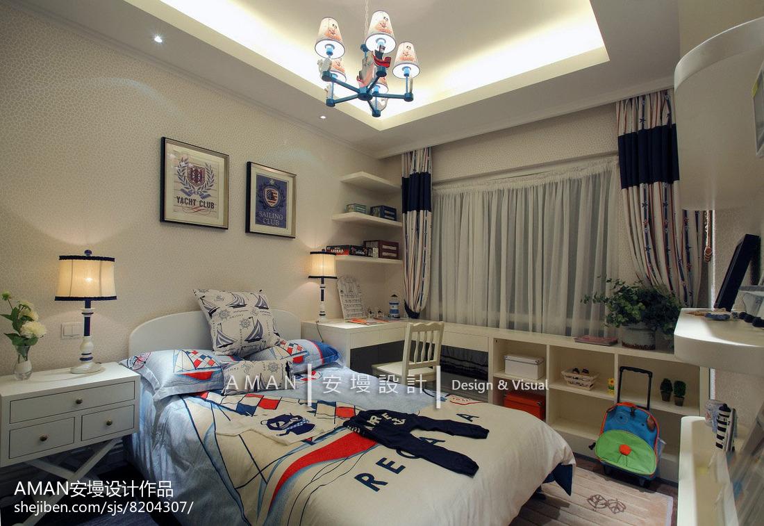 地中海居家上下铺儿童房装修设计
