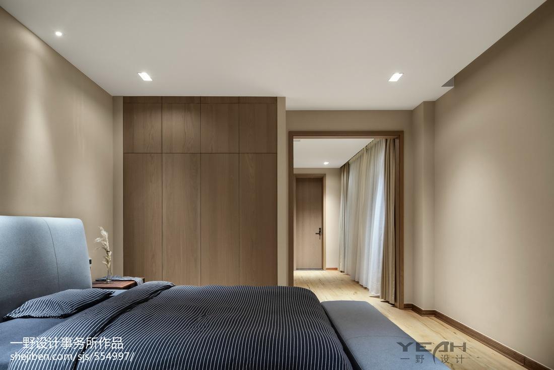热门104平米三居卧室中式实景图片欣赏
