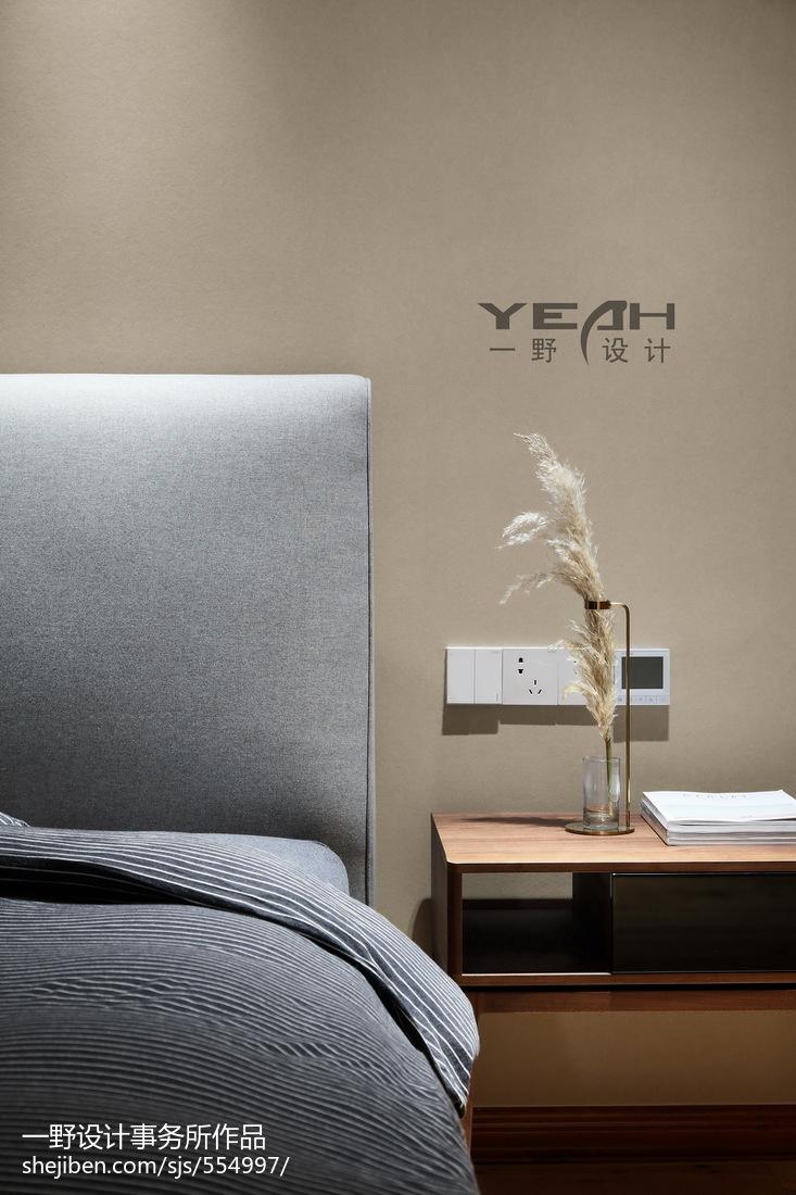 精美102平米三居卧室中式装修欣赏图片
