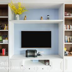 热门面积94平美式三居客厅装修实景图片大全