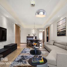 精选94平米三居客厅现代装修设计效果图片
