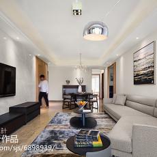 轻奢150平现代三居客厅实拍图