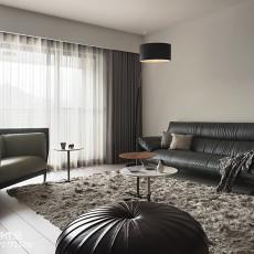 2018面积142平现代四居客厅装修效果图片欣赏