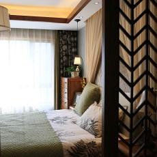 热门100平米三居卧室东南亚装修设计效果图片欣赏