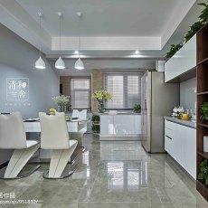 热门96平米三居餐厅现代实景图片大全